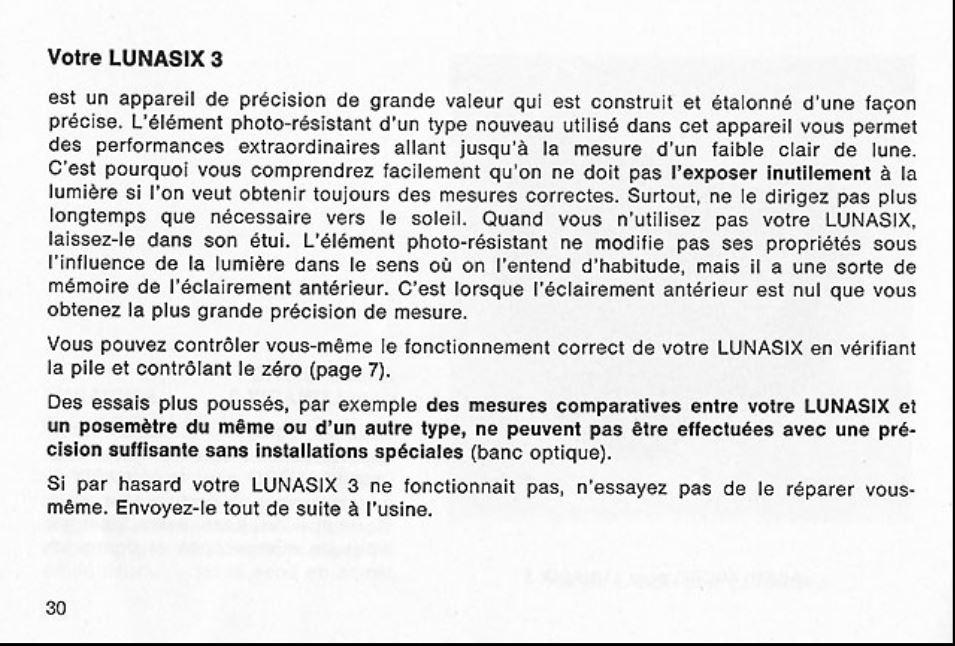 Gossen Lunasix 3